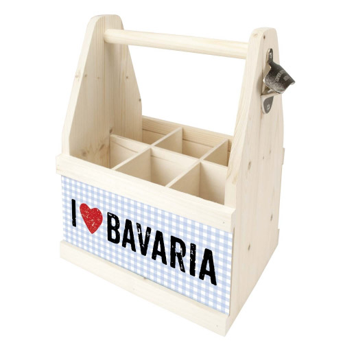 Beer Caddy I LOVE BAVARIA