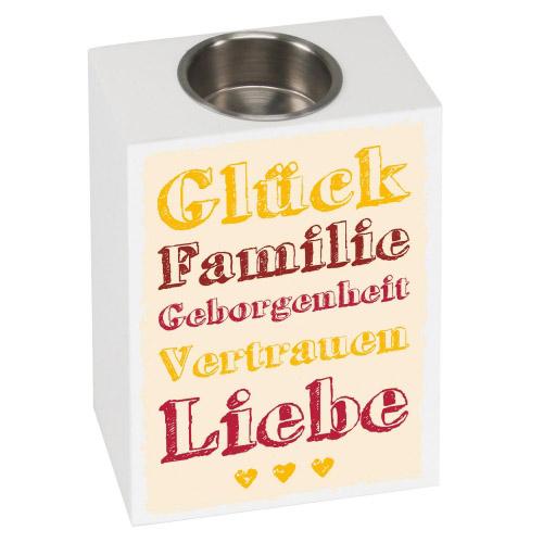 Teelichthalter Sensa Glück Familie Geborgenheit...
