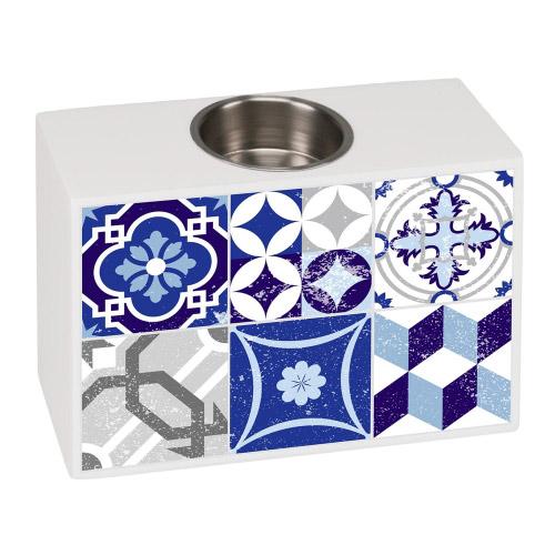 Teelichthalter Sensa Mosaik Grau-Blau´´´´