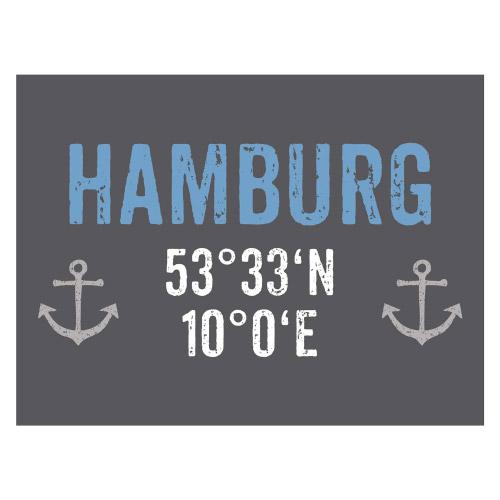 Tischset Vinyl HAMBURG KOORDINATEN