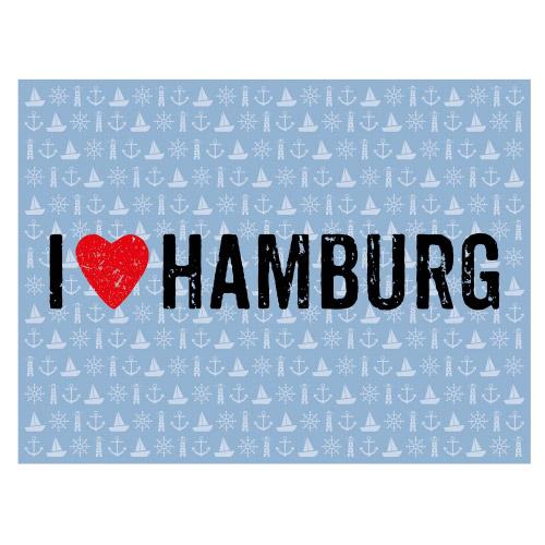 Tischset Vinyl I LOVE HAMBURG