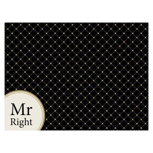 Tischset Vinyl MR RIGHT