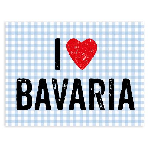 Tischset Vinyl I LOVE BAVARIA