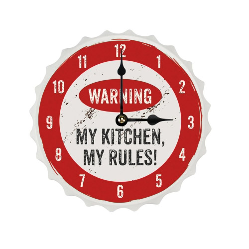 Wanduhr Crowns M My Kitchen. My Rules!´´´´