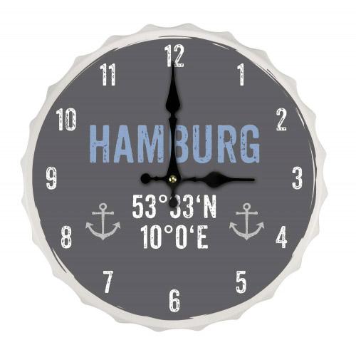 Wanduhr Crowns L HAMBURG KOORDINATEN´´´´