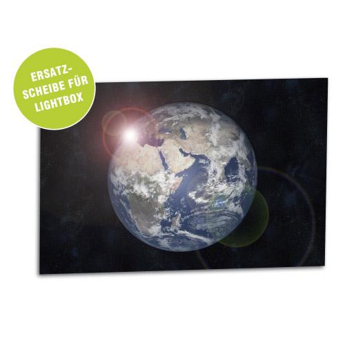 Acrylglasscheibe für Lightbox ERDE 30x20 cm