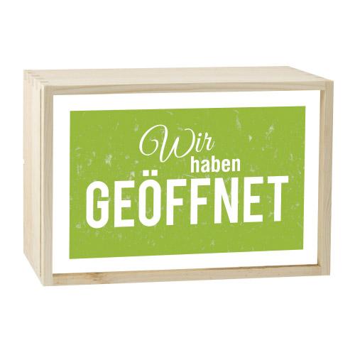 Lightbox GEÖFFNET 30x20 cm