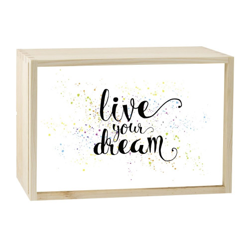 Lightbox LIVE YOUR DREAM 30x20 cm