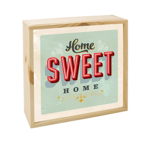 Lightbox HOME SWEET HOME  25x25 cm
