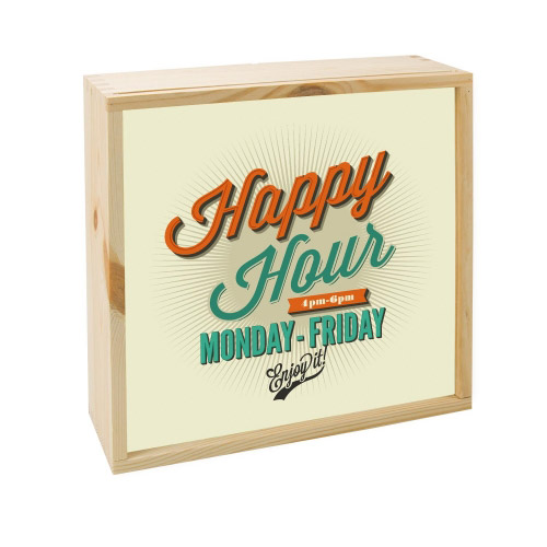 Lightbox HAPPY HOUR  25x25 cm