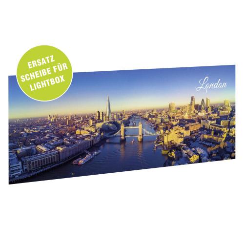 Acrylglasscheibe für Lightbox LONDON 35x15 cm
