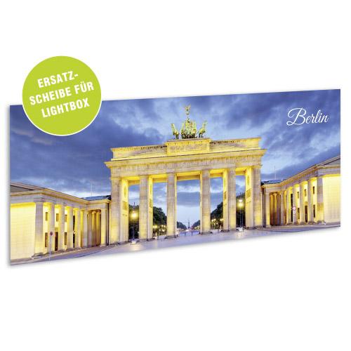 Acrylglasscheibe für Lightbox BERLIN 35x15 cm