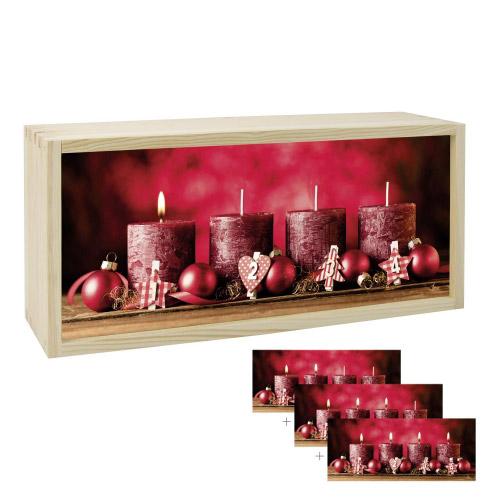 Lightbox ADVENTSKERZEN 35x15 cm