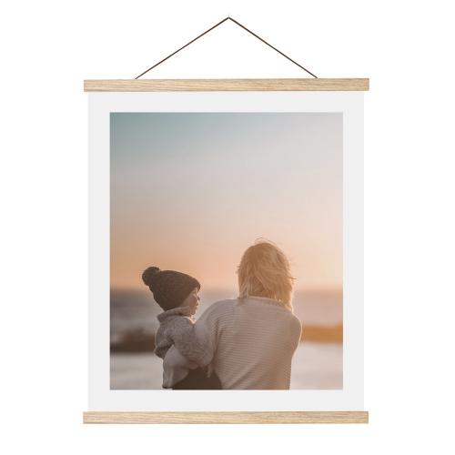 Posterleisten mit eigenen Foto - clipwood Set Hochformat 30 x 40 Eiche