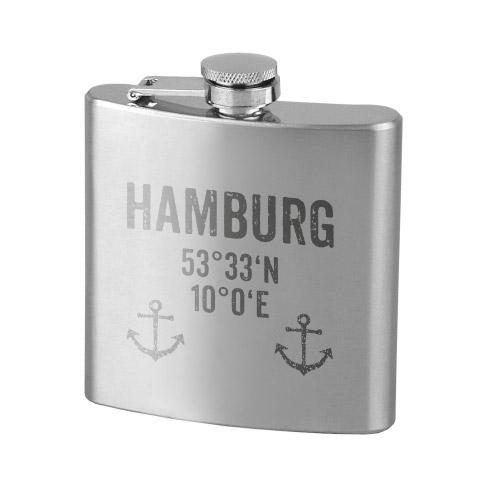 Flachmann Edelstahl HAMBURG KOORDINATEN