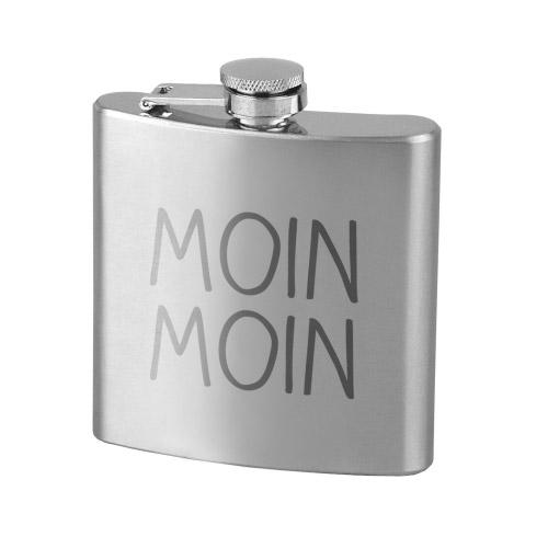 Flachmann Edelstahl MOIN MOIN
