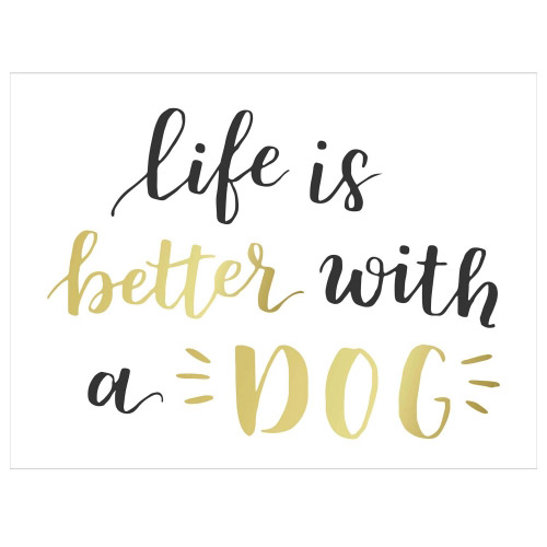 Tischset Vinyl Life is better with a Dog