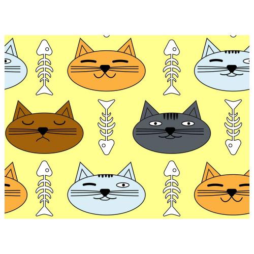 Tischset Vinyl Katzen & Fischgräten