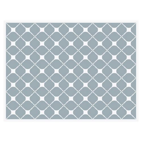 Tischset Vinyl Pattern Graublau 2