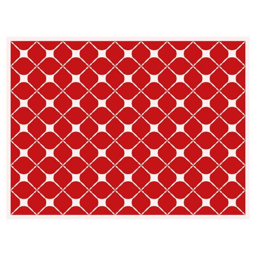 Tischset Vinyl Pattern Rot 2