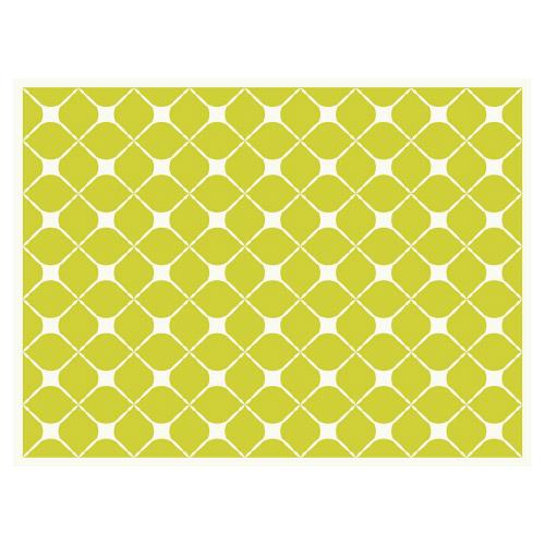 Tischset Vinyl Pattern Grün 2