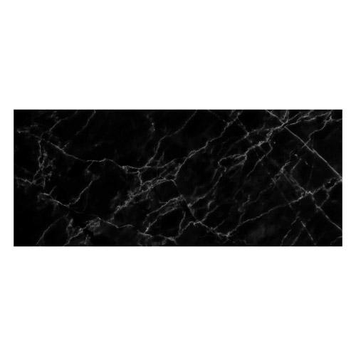 Vinyl Teppich MATTEO 50x120 cm Marmor Schwarz