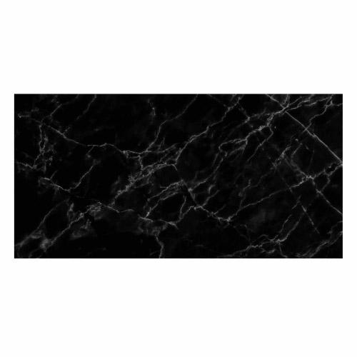 Vinyl Teppich MATTEO 70x140 cm Marmor Schwarz