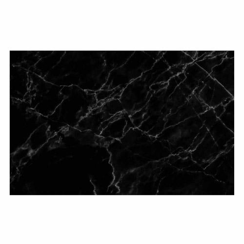 Vinyl Teppich MATTEO 90x135 cm Marmor Schwarz