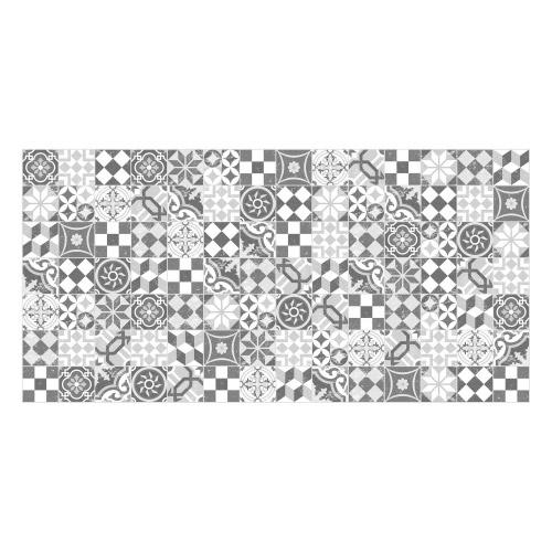 MATTEO Vinyl Teppich 70x140 cm - Mosaik Grau