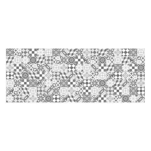 MATTEO Vinyl Teppich 90x135 cm - Mosaik Grau