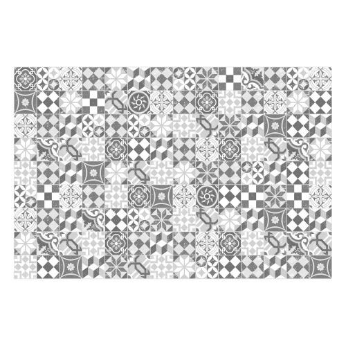 MATTEO Vinyl Teppich 90x160 cm - Mosaik Grau