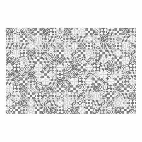 MATTEO Vinyl Teppich 118x180 cm - Mosaik Grau