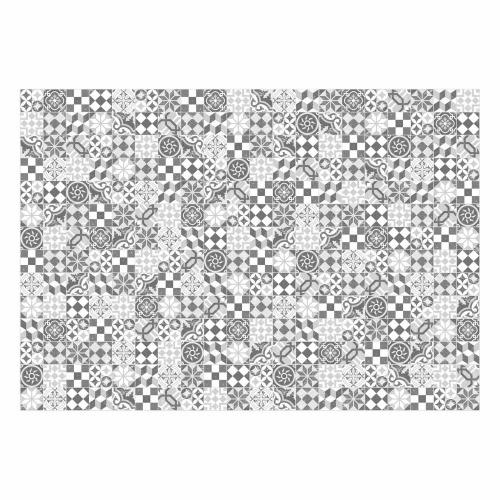 MATTEO Vinyl Teppich 140x200 cm - Mosaik Grau