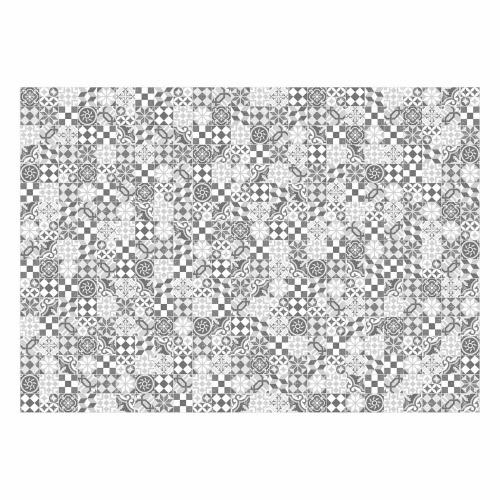 MATTEO Vinyl Teppich 170x240 cm - Mosaik Grau