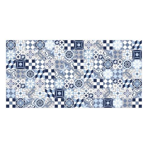 Vinyl Teppich MATTEO 70x140 cm Mosaik Blau