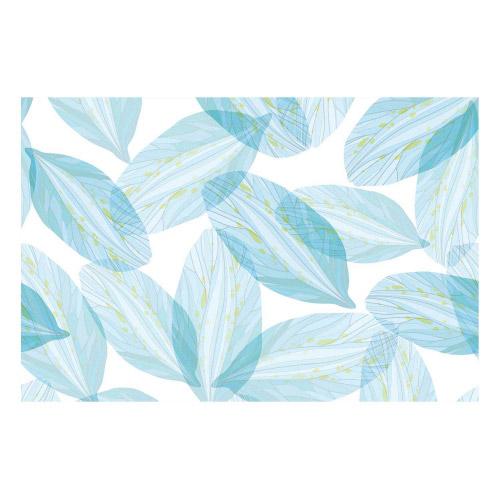 Vinyl Teppich MATTEO 40x60 cm Blue Leaves