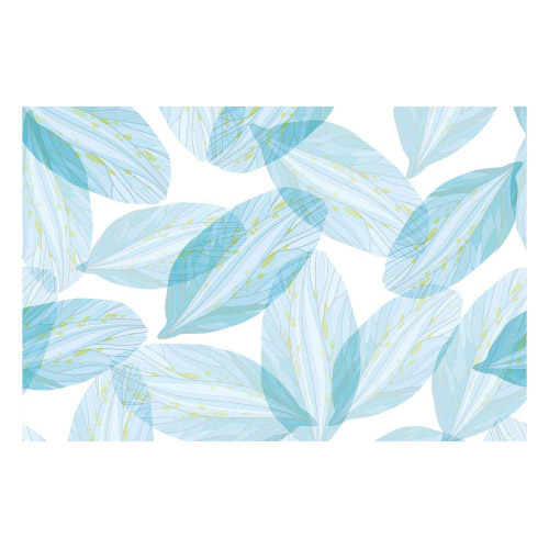 Vinyl Teppich MATTEO 60x90 cm Blue Leaves