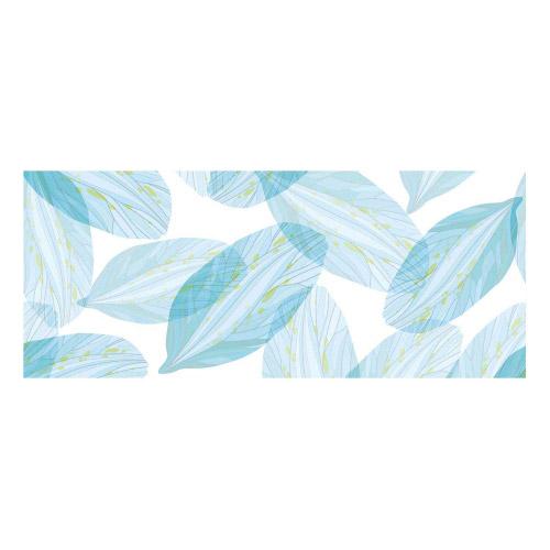 Vinyl Teppich MATTEO 50x120 cm Blue Leaves