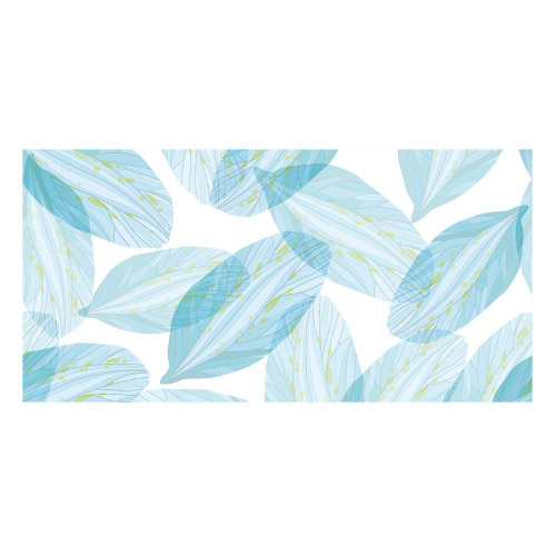 Vinyl Teppich MATTEO 70x140 cm Blue Leaves