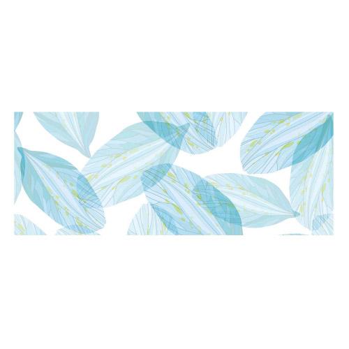 Vinyl Teppich MATTEO 70x180 cm Blue Leaves