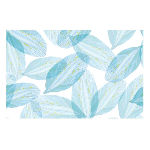 Vinyl Teppich MATTEO 90x135 cm Blue Leaves