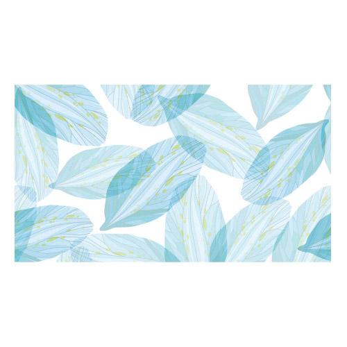 Vinyl Teppich MATTEO 90x160 cm Blue Leaves