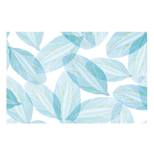 Vinyl Teppich MATTEO 118x180 cm Blue Leaves