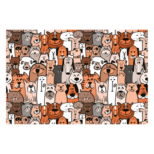 Vinyl Teppich MATTEO 40x60 cm Hunde