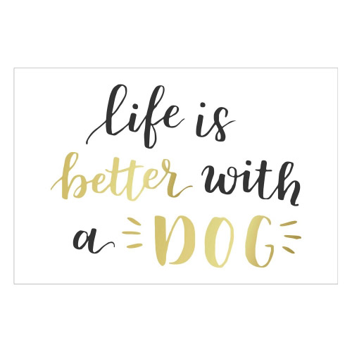 Vinyl Teppich MATTEO 40x60 cm Life is better with a Dog