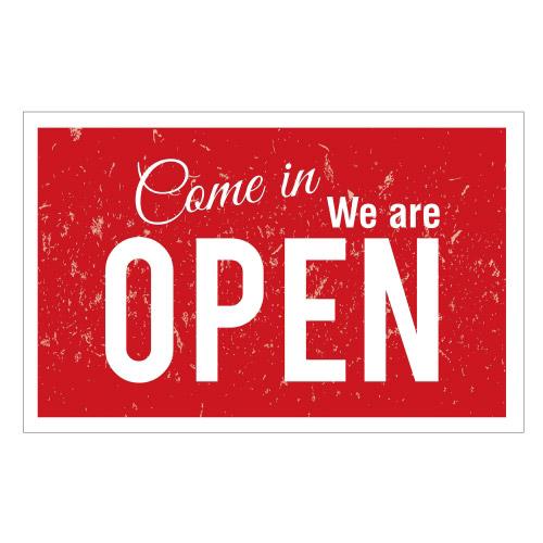 Vinyl Teppich MATTEO 90x135 cm Come in We are Open
