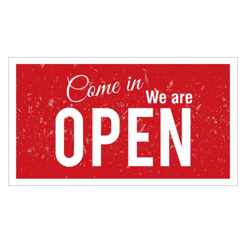 Vinyl Teppich MATTEO 90x160 cm Come in We are Open