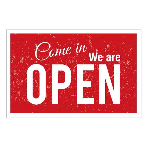 Vinyl Teppich MATTEO 118x180 cm Come in We are Open