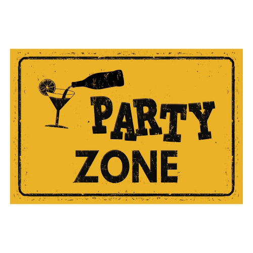 Vinyl Teppich MATTEO 40x60 cm Party Zone