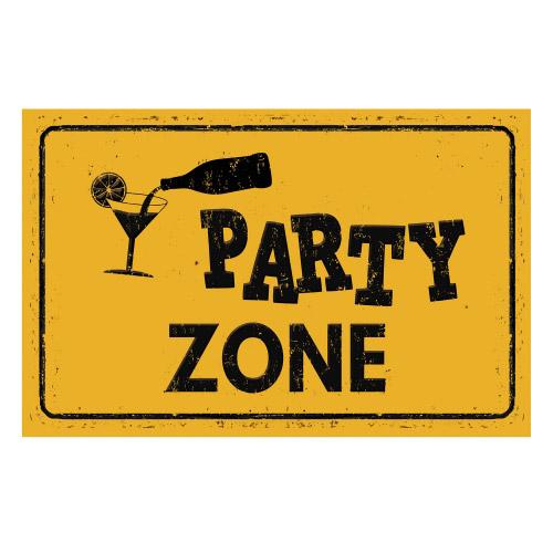 Vinyl Teppich MATTEO 90x135 cm Party Zone